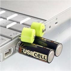 USB den şarj edilebilen pil
