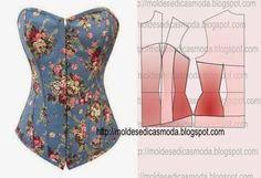 Moldes para hacer un corset para mujer