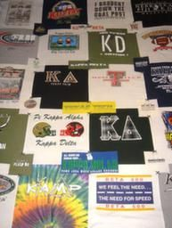 Kappa Delta Quilt-still want to make one with all my KD shirts and one with all my camp shirts!