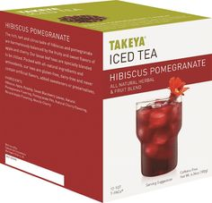 Takeya - Hibiscus Pomegranate Iced Tea Packets (12-Pack), 30015
