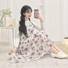 마리쉬♥패션 트렌드북!    ♡ Pinterest ~ @btslicorne High Low Prom Dresses, Long Wedding Dresses, Short Dresses, Korean Fashion Trends, Korea Fashion, Mein Style, Floral Maxi Dress, Passion For Fashion, Spring Fashion