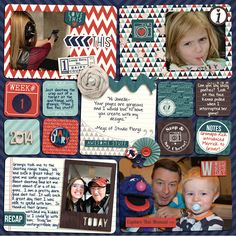 Gorgeous Project Life Layout by NellahBean using the Pocket Life: January Collection by Traci Reed Designs