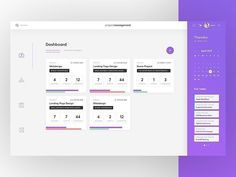 Project Management Dashboard by SonaPsotova Dashboard Ui, Dashboard Design, Interface Design, User Interface, Project Management Dashboard, Web Design, Flat Ui, Responsive Layout, Website Ideas