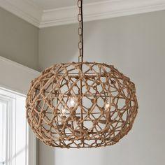 Rope Frame Chandelier - Shades of Light Beachy Chandelier, Round Chandelier, Farmhouse Chandelier, Chandelier Shades, Chandelier Ideas, Nursery Chandelier, Chandeliers For Dining Room, Kitchen Chandelier, Coastal Dining Rooms