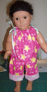 American Girl doll pajama tutorial