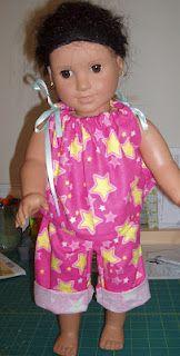 American Girl doll pajama tutorial