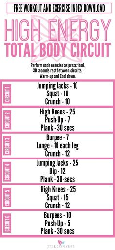You don't need a gym membership to sculpt a great body. You don't even need equipment. Tone your arms, legs, and abs and burn fat with this super simple 30-minute high energy bodyweight workout. Click through to http://jillconyers.com to download the workout and Exercise Index. Pin it now and workout later. @jillconyers
