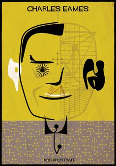 The Latest Illustration from Federico Babina: ARCHIPORTRAIT - Charles Eames. Image Courtesy of Federico Babina