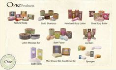 """""""One"""" Bath and Body Products"""