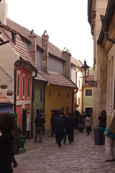 Golden Lane, inside the Prague Castle