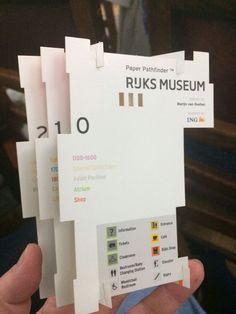 Museum wayfinding: A critique of the Paper Pathfinder - Applied Wayfinding. Ticket Design, Signage Design, Map Design, Book Design, Library Design, Booklet Design Layout, Brochure Design, Library Signage, Museum Branding