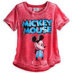 Disney Ladies Shirt - Mickey Mouse Fashion Tee for Women - Red Mickey Mouse And Friends, Disney Mickey Mouse, Minnie Mouse, Disney Outfits, Cute Outfits, Disney Fashion, Disney Honeymoon, Tees For Women, Disney Merchandise