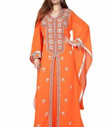 Buy orange kaftan islamic dress  Reaymade Abaya online