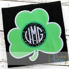Clover Monogram Applique - 4 Sizes!   What's New   Machine Embroidery Designs   SWAKembroidery.com Creative Appliques