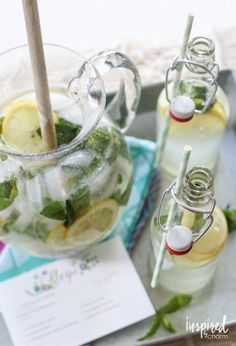 Sparkling Mint Lemonade - delicious recipe for summer entertaining