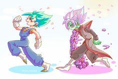 Vegito and Black Goku and Zamasu fusion Goku Vs Black Goku, Dragon Ball Z, Zamasu Fusion, Chibi, Gogeta And Vegito, Dbz Characters, Awesome Anime, Cute Wallpapers, Anime Art