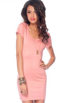 Go Back Across Dress in Baby Pink