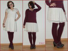 [Fashion] Sommerliches Spitzenkleid und Kuschelpullover // Summer Lace Dress & cuddly sweater