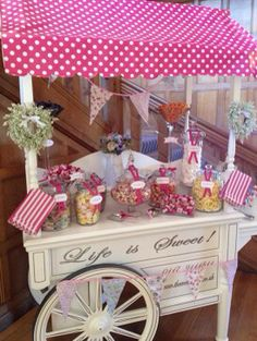 Old fashioned sweet cart