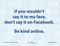 be kind online #character