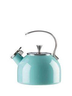 http://www.2uidea.com/category/Tea-Kettle/ Turquoise Tea Kettle - kate spade new york (much prettier than my keurig!)