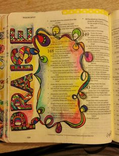 Bible Art Journaling Psalms 148 Colored pencils