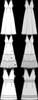 Schnittmuster: Sommerkleid - maxi und kurz - Sommerkleider - Kleider - Damen - burda style