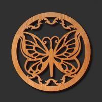 Corte del laser de Soportes de madera: Mariposa
