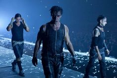 Till Lindemann with Paul and Schneider leave the stage