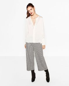 Image 3 of FLOWING SATEEN BLOUSE from Zara