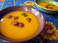 Butternut Squash Soup with Chorizo by fritish, via Flickr