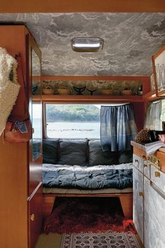 On a secluded beach in Punta Ala, a Fornasetti-outfitted mobile home is parked for good. Solar Powered Lanterns, Cole And Son, Mobile Home, Design Firms, Interior Inspiration, Fashion Inspiration, Tuscany, Duvet Covers, Interior Design