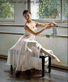 Ballet Dancers Oil Painting - Learn to dance at BalletForAdults.com!