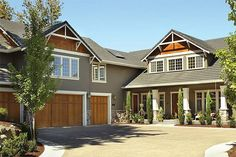 Craftsman Style 2 story 4 bedrooms(s) House Plan with 3457 total square feet and 3 Full Bathroom(s) from Dream Home Source House Plans Lake House Plans, House Layout Plans, Craftsman Style House Plans, Country House Plans, House Layouts, House Floor Plans, Craftsman Homes, Craftsman Bungalows, L Shaped House Plans