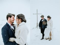 Anna & Jon explore the winter landscape of the Krippenstein mountain on their wedding day. Photos by Wild Connections Photography Snow Wedding, Dream Wedding, Wedding Day, Got Married, Getting Married, Moving To San Diego, Emotional Support Animal, Winter Wedding Inspiration, Winter Photos