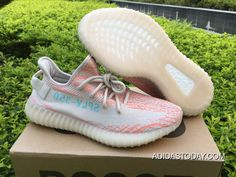 new arrivals f45fc 05958 Women Men Discount Adidas Yeezy Boost 350 V2 Clear Brown Chalk Coral-Clear  Aqua