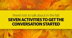 Are you looking for some discussion activities that embrace the spirit of the season? Here are some great fall themed speaking activities to get your English students talking...