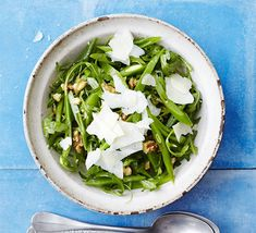 This light green salad with walnuts and Italian cheese makes a versatile side dish or starter. Add prosciutto for extra wow factor.