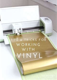 Are you ready to use your Cricut Explore to make vinyl decor, labels and more? This post breaks down everything you need to know about working with vinyl!