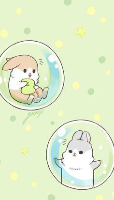 Rabbit Wallpaper, Drawing Wallpaper, Cute Wallpaper Backgrounds, Kawaii Wallpaper, Love Wallpaper, Cute Wallpapers, Cute Animal Drawings, Cute Drawings, Happy Animals