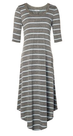 Comfy Jersey Dress - cute with a belt and scarf