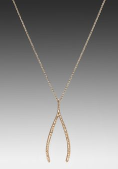 HOUSE OF HARLOW Engraved Pattern Wishbone Pendant in Gold at Revolve Clothing - Free Shipping!