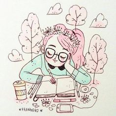 produtividade6 Cute Art, Pretty Art, Cute Illustration, Character Illustration, Amazing Drawings, Art Drawings, Meneses, Beautiful Images, Pineapple Pie