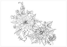 Realistic masterpiece coloring pages ~ Download and Print realistic flowers coloring pages ...