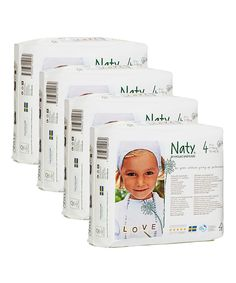 Look at this Naty Size Four 27-Count Diaper Pack - Set of Four on #zulily today!