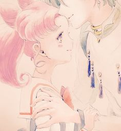 Chibiusa and Helios by  あんじ                                                                                                                                                                                 More
