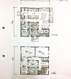 『32坪の間取り』 3帖の中庭付+LDK+家事室兼パントリー+坪庭が眺められる浴室+ベッドルーム2室+プライベートリビング+フリースペース+バルコニー。 カウンター付きキッチンから中庭が見れます。 対面キッチン、家族を見るべきか、中庭を見るべきか。 #間取り#間取り図 #間取り図大好き #間取り萌え #間取り力 #間取りマニア #間取りフェチ #間取り考え中 #間取り好き #間取り紹介 #間取り集 #32坪の間取り#中庭付き間取り#対面キッチン#家づくり#マイホーム計画#floorplan#japanese - atelierorb