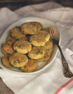 Polpette di grano saraceno e verdure buckwheat dumplings and vegetables Recipe: http://www.unavnelpiatto.it/ricette/seconde-portate/polpettine-grano-saraceno-verdure.php