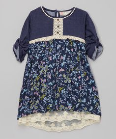 Another great find on #zulily! Paradise Lace Hi-Low Dress - Girls by Free Planet #zulilyfinds