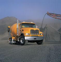 Mack Trucks, Semi Trucks, Big Trucks, Big Tractors, Nissan Trucks, Mixer Truck, White Truck, Concrete Mixers, Mining Equipment